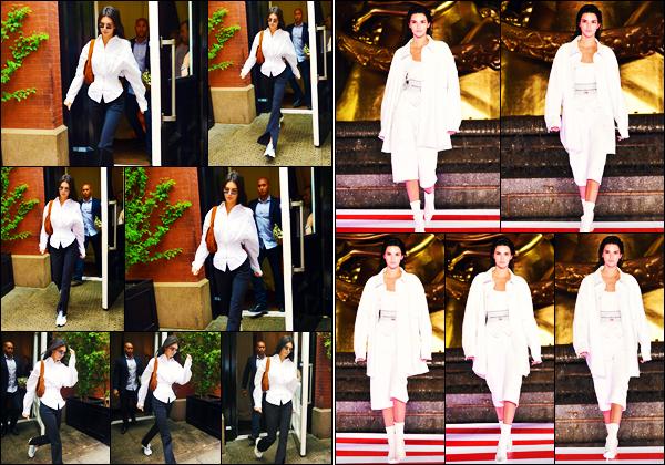 -31/05/2019- ─ Kendall Jenner a été photographiée alors qu'elle se promenait dans les rues de la ville de - New-York City.Plus tard dans la journée, la belle mannequin a défilé pour le créateur « Alexander Wang » ! Concernant ses tenues, ce sont des petit top pour ma part !