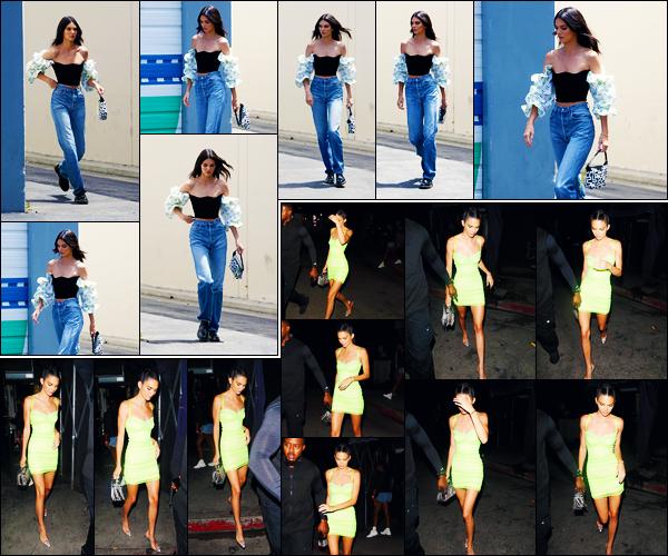 -09/08/2019- ─ Kendall Jenner a été photographiée alors qu'elle se promenait dans les rues de la ville dans - Los Angeles.La belle mannequin Kendall a ensuite été photographiée quittant le « the Nice Guy » à West Hollywood. Concernant ses tenues, ce sont des beaux tops !