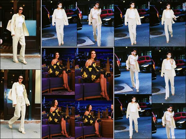 '-14/09/21-' • Kendall Jenner a été photographiée alors qu'elle quittait son hôtel dans les rues de New-York C. La belle K. a participé à l'émission : « The Tonight Show Starring Jimmy Fallon ». Puis elle est rentrée à son hôtel dans la soirée. Des tops.