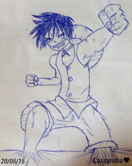 Dessin de Luffy