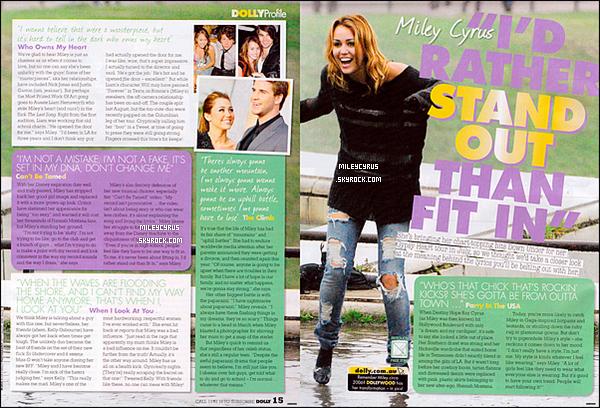 . Scans - Mileyapparaît encouverturedans le numéro du mois de juillet du magazine australien«Dolly» + Une nouvelle vidéo de Miley et de sa maman avant de partir à Manille pour continuer sa tournée Gyspy Heart Tour.   .