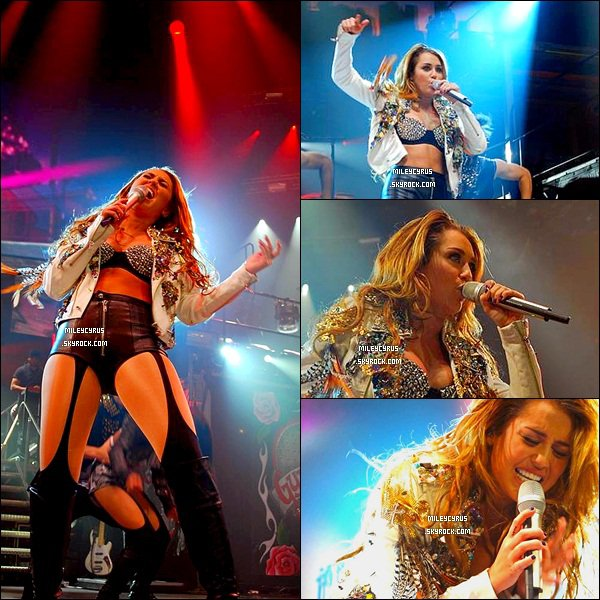 """. 02.07.11 - Miley terminait sa tournée à Perth en Australie News : Alison Silva (ami & paparazzi brésilienne de Miley as annoncé lors d""""un Tweetcam, qu'il y aurait un DVD de la tournée ! ."""
