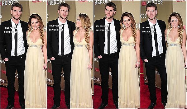 . 11.12.11 - Miley, splendide,  était présente au CNN Heroes All Stars Tribute avec Liam, son petit ami.  .