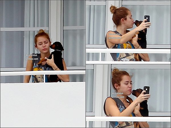 . 14/05/2012 - Miley arrivant à l'aéroport de Los Angeles. .