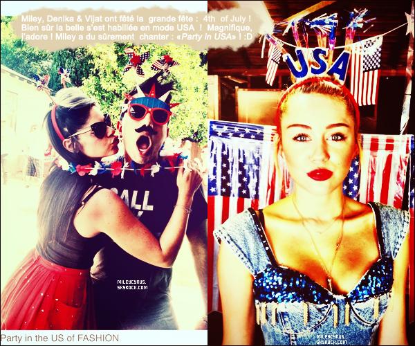 . 05/07/2012 - Miley se promenant, portable à la main, dans les rues deToluca Lake, en Californie !  .