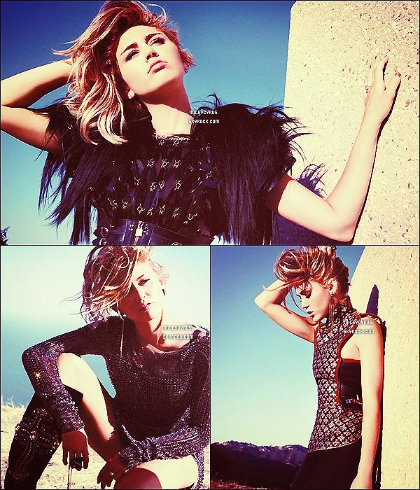 .  Découvrez le magnifique nouveau photoshoot de Miley posant pour le magazine Marie-Claire.  .