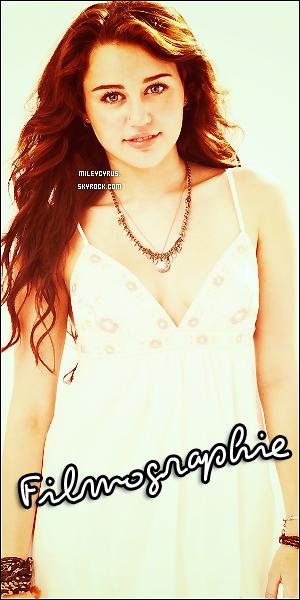 . Miley est une excellente chanteuse.. mais aussi une excellente actrice. Remémorons-nous tous ces films dans lesquels elle à joué ! ;)  .
