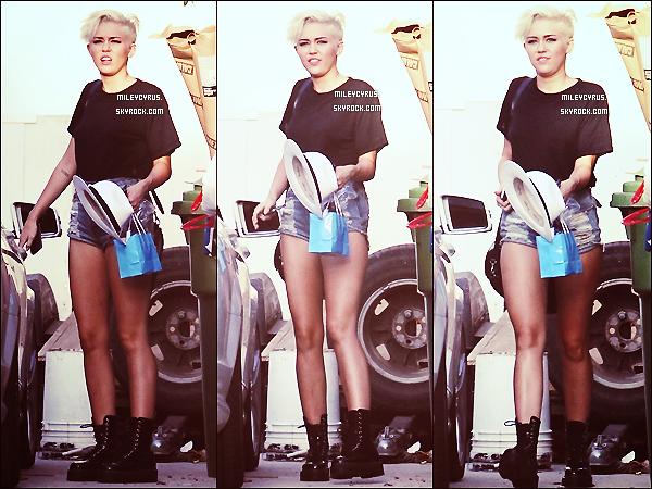 . 30/08/12 - Miley , à été aperçu avec son ami Vijat Mohindra, dans l'après-midi dans Los Angeles. Miley est enfin de retour à L.A !  Elle travaille sur le photoshoot pour son nouveau site.