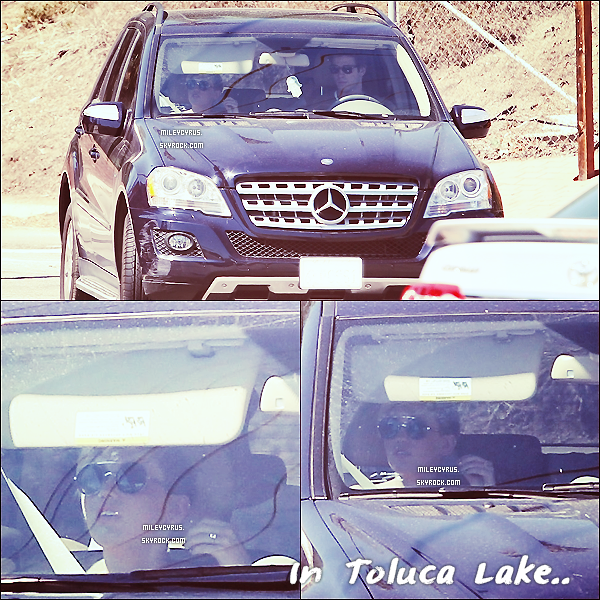 . 18/09/12 - Miley , à été vu en voiture avec Liam dans Toluca Lake. 18/09/12 - Miley , à été vu amenant Liam à l'aéroport de Los Angeles.  .