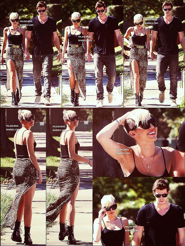 . 19/10/2012 -La belle Mileyet son prince charmant, Liam, ont été vus se promenant en amoureux dans les rues de Studio City ! Top or Flop ? .