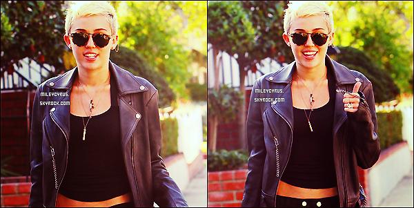 . Le 27/01/13 : Miley était à Los Angeles chez Hugo avec ses amis. .