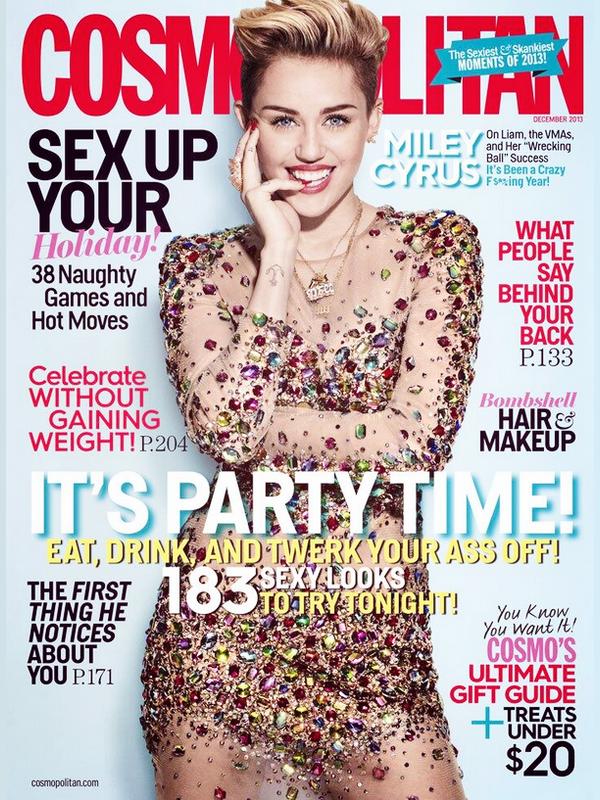 . | 27 octobre 2013 | Shoot | Miley a fait un magnifique shoot pour Cosmopolitan du mois de Décembre qui sort le 5 novembre (USA).    .