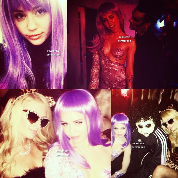 . | 30 octobre 2013 | Photos personelles | Miley a poster de nouvelles photos sur son compte Twitter. Dont deux avec des perruques.     .