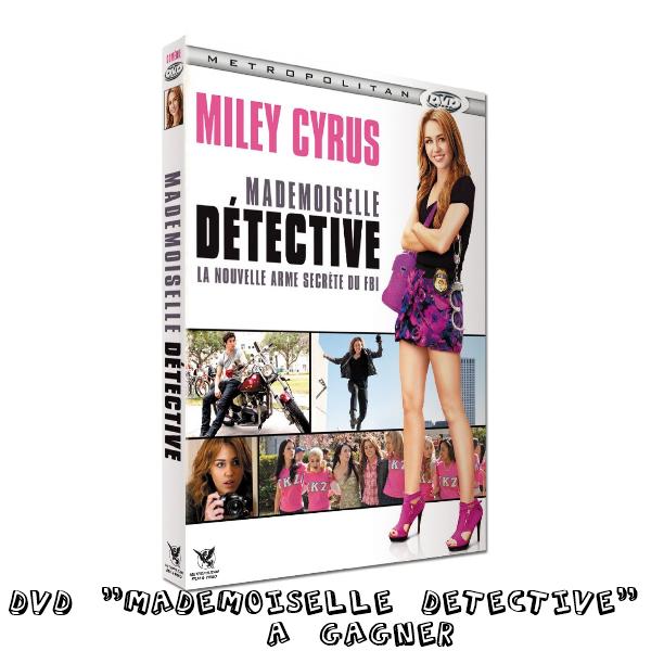 """.  CONCOURS : A gagner le DVD """"Mademoiselle Detective"""" & LOL USA Le premier concours organisé par les webmiss du blog : MileyCyrus.skyrock.com, vous propose de gagner le dvd """"Mademoiselle Détective"""" dans lequel Miley joue une détective privée. Pour jouer, il suffit de s'inscrire tout simplement. Pour tout soucis concernant le concours, demandez-moi. Inscrivez-vous dés maintenant ici !  ."""