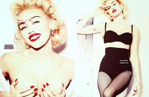 . |11 février 2014| Photoshoot | Miley photographiée par Mario Testino pour Vogue.  Les photos sont magnifiques mais ça sent le scandal à plein nez :)
