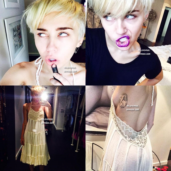 . |31/07/2014 | Candids | Miley à été vu arrivant à son hôtel, avec son chien Emu à New-York.  Eh oui le Bangerz Tour continue! .