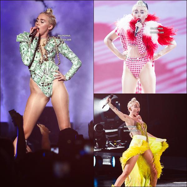 . |01/08/2014 | Candids | Miley a été vu quittant l'hôtel et se dirigeant vers son concert à Manhattan. .