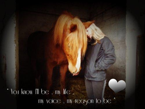 Tu sera ma vie , ma voix , ma raison d'être
