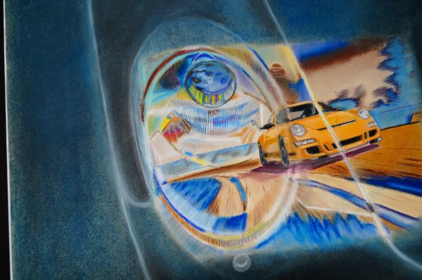une GT3 RS dans le phare de l'action