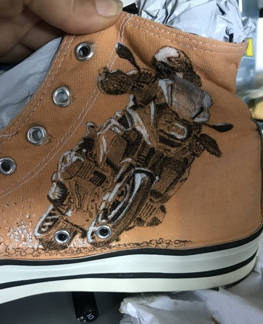 chaussure thème bmw terminée