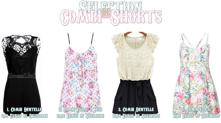 Sélection de Robes et de Combi-Shorts