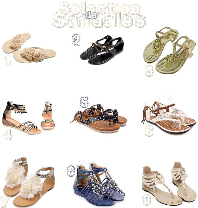 Sélection de Sandales 2015