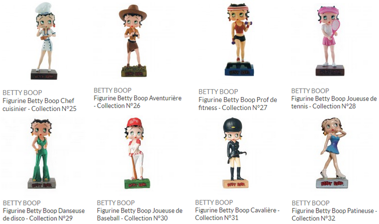Collection : Figurine Betty Boop Show