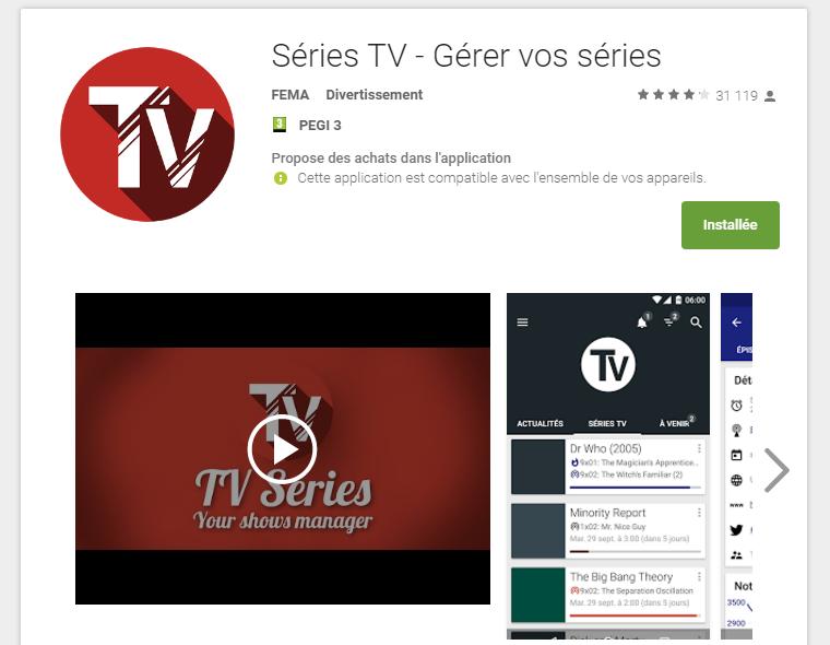 Application et Logiciel : TVShow Time et Séries TV.!