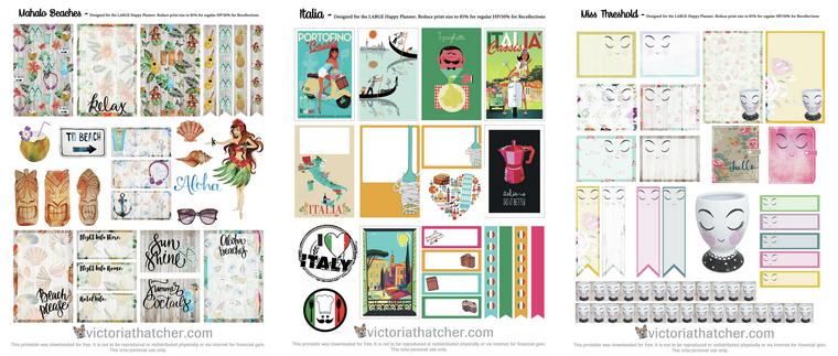 Ressources : Stickers pour Planner et Agenda