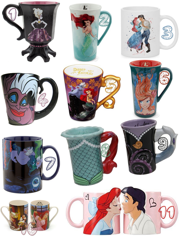 Collection : Mugs, la petite sirène
