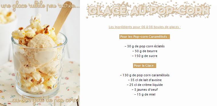 Glace au Pop-Corn