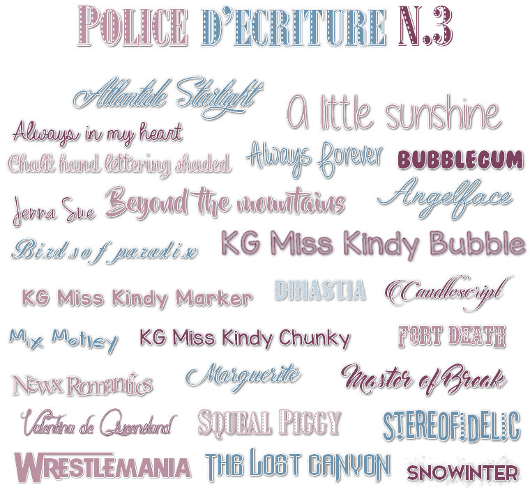 Ressources : Polices d'écritures N°3