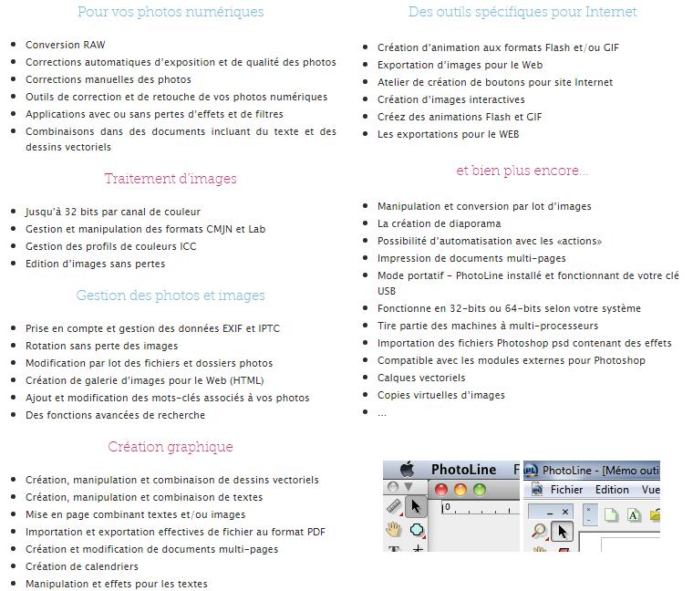 Application et Logiciel : PhotoLine 19