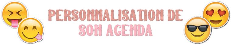 Personnalisation agenda 2016