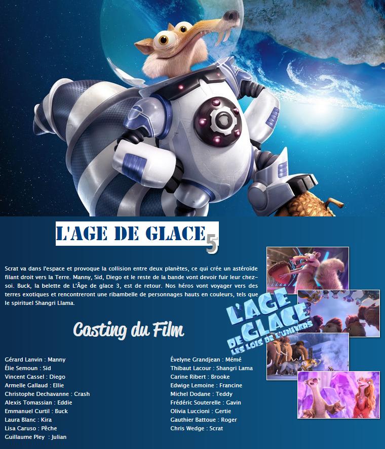 Films : L'age de Glace - Les lois de l'univers