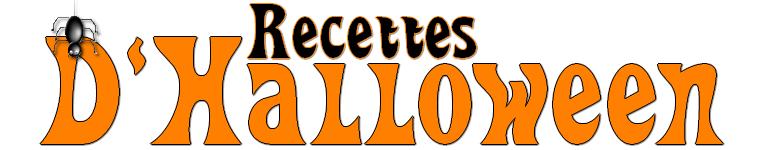 Recette : Quatre recettes spéciale Halloween