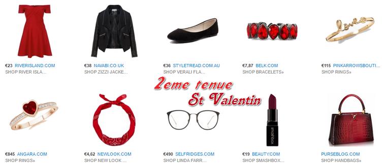 Mode : Tenues de St Valentin