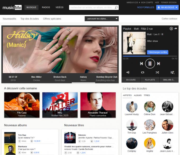 musicMe - Le portail de la musique
