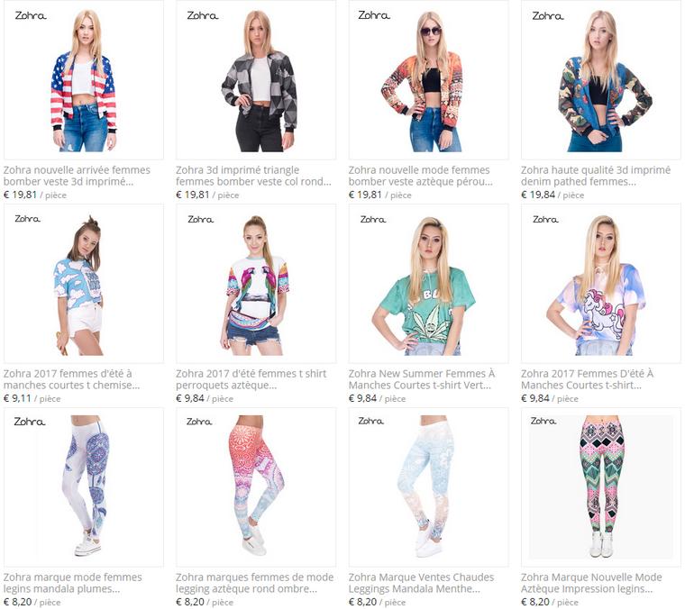 Site et Blog : Zohra Official Store (Boutique Aliexpress)