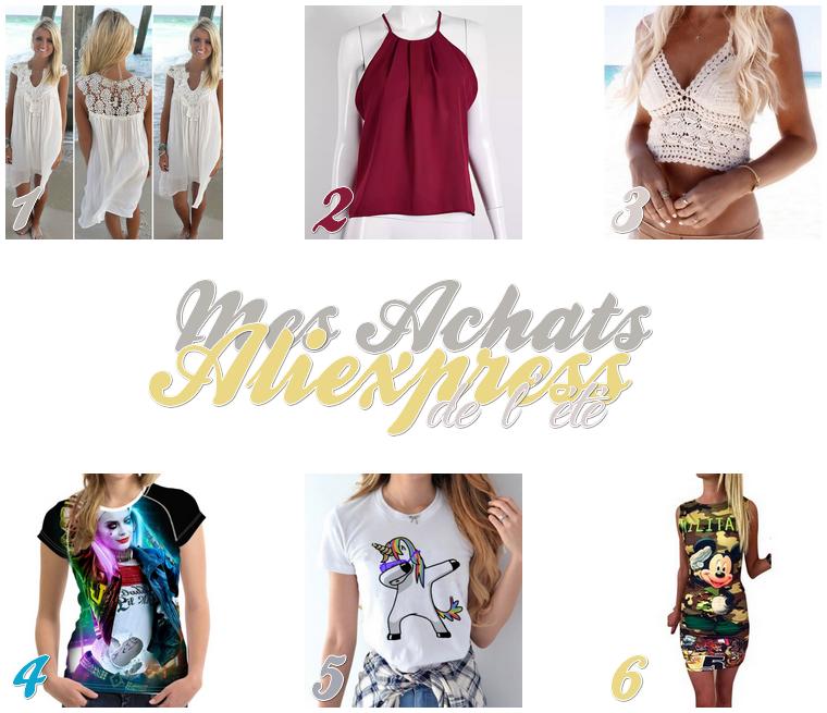 Mode : Mes achats de l'été (aliexpress)