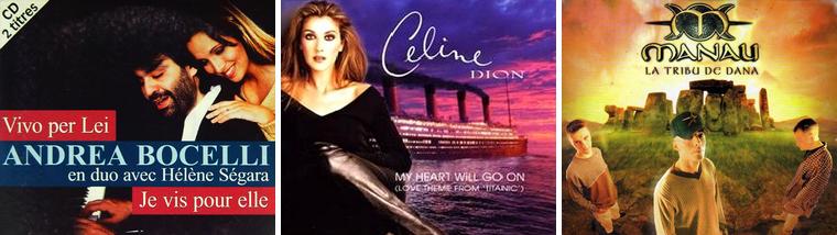 Musique : Top 50 de 1996 à 2000