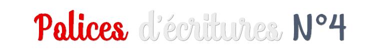 Ressources : Polices d'écritures N°4
