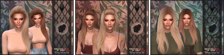 Sims 4 : Coiffures du créateur Nightcrawler