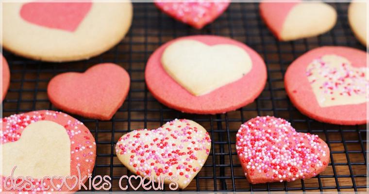 Recette : Des Cookies Coeurs