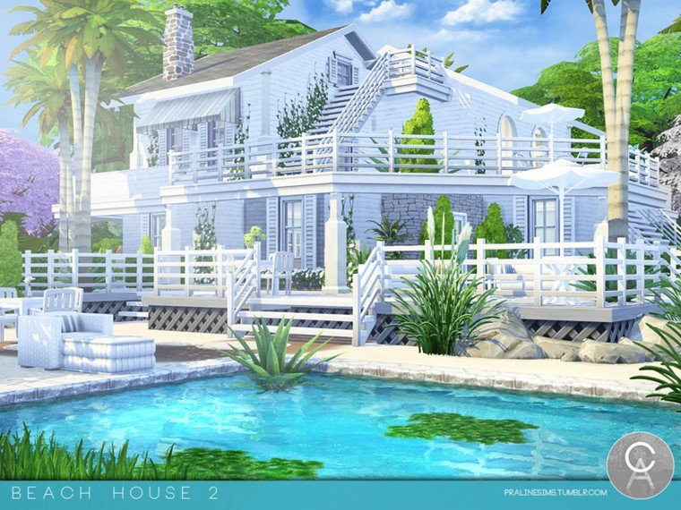 Sims 4 : Maison de plage by Pralinesims