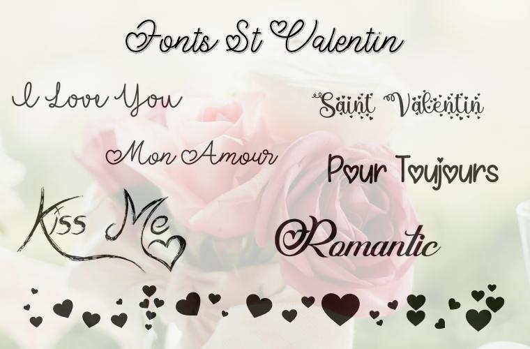 Ecritures Saint Valentin