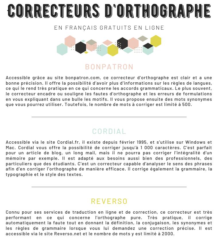 6 Correcteurs d'Orthographe