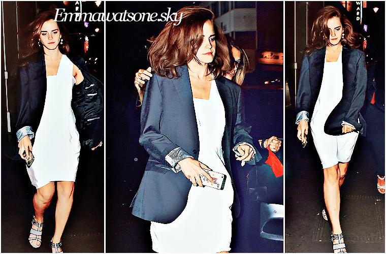 . en ce 2 juillet Emma a été aperçu à Londres avec ses amis  .