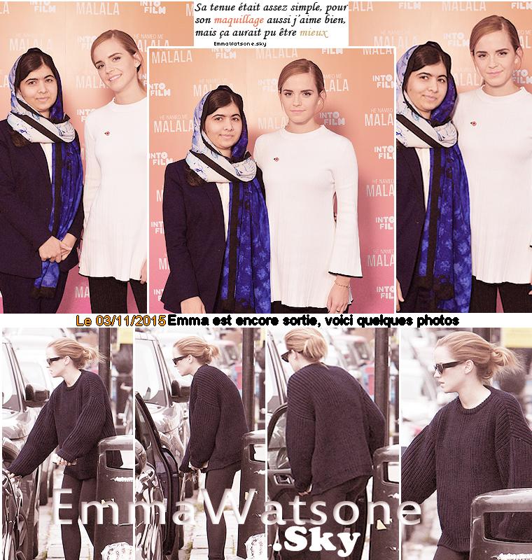 Je vous présente les dernières nouvelles de la belle Emma Watson, j'espère que l'article vous plaira