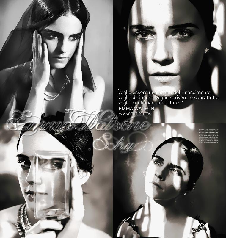 11/11/2015: Voici les photos du dernier photoshoot d'Emma pour le magasine Vogue Italien